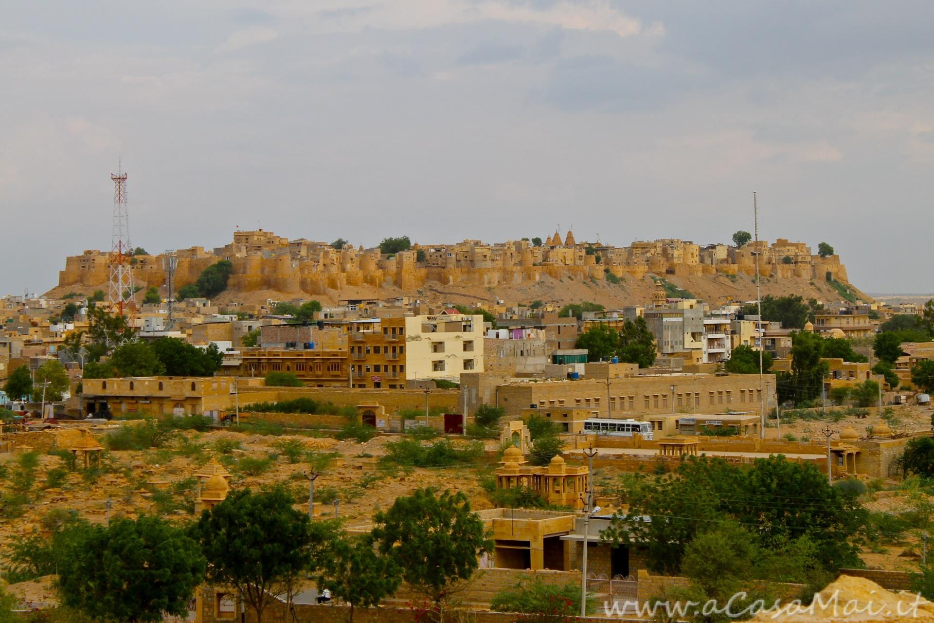 Jaisalmer fort vista da Vyas Chhatri