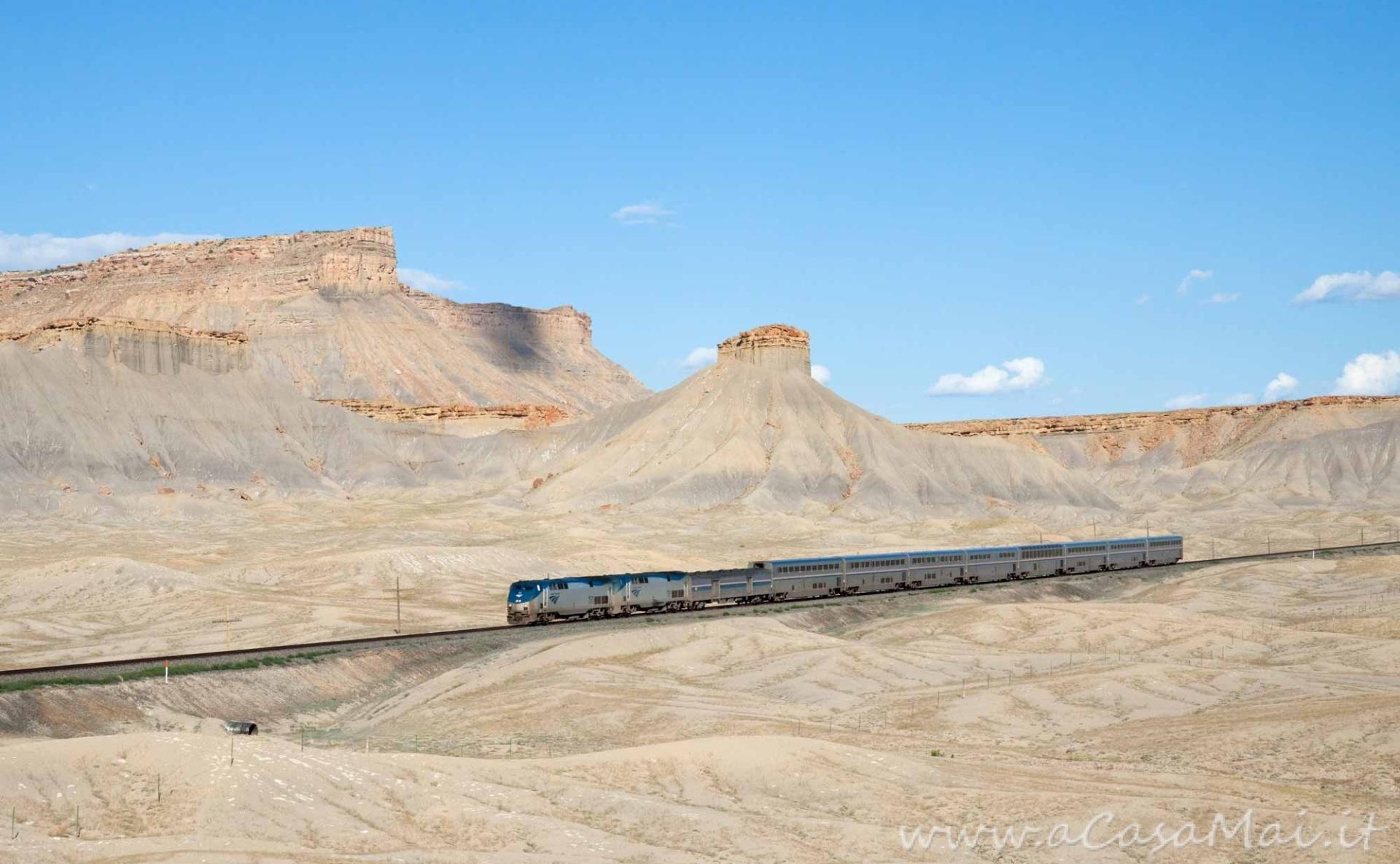 Amtrak - California Zephyr - Green River Floy, Utah