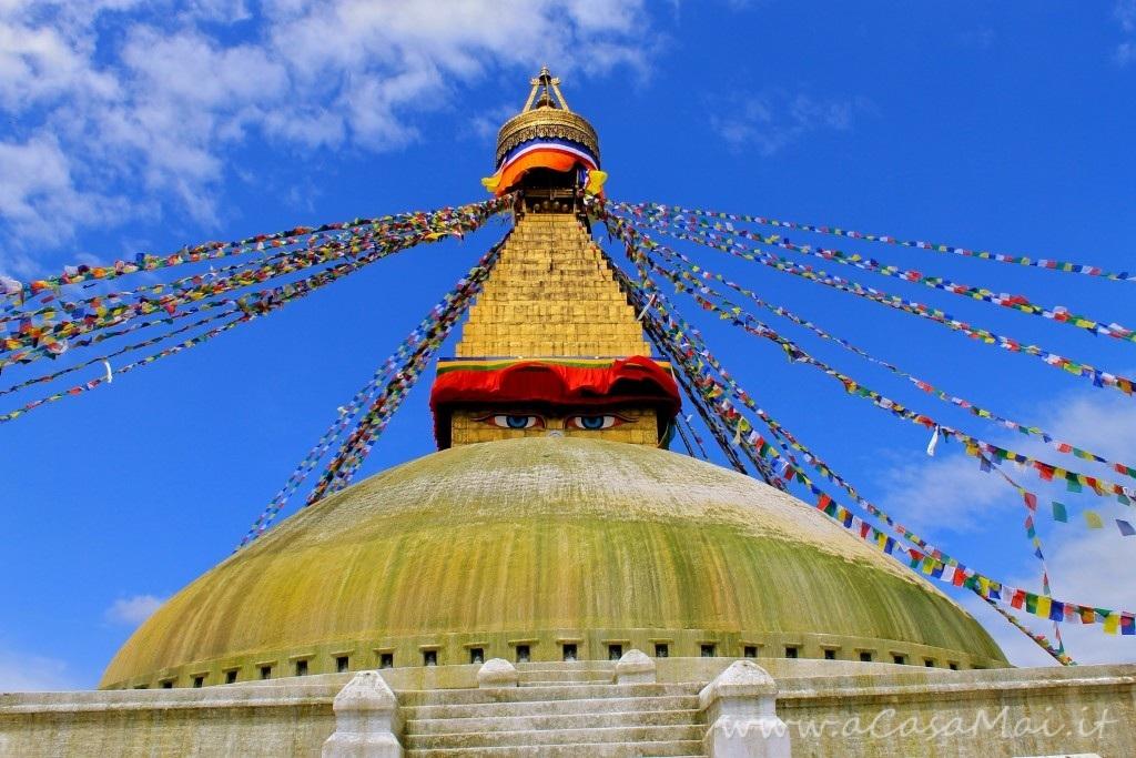 Boudhanath Stupa a Kathmandu, tempio buddhista in Nepal