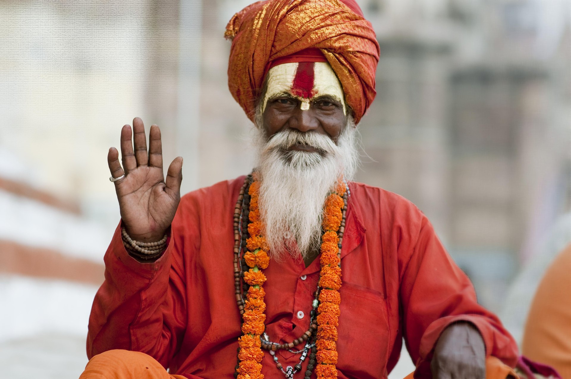 Guru-Sadhu in Varanasi, India