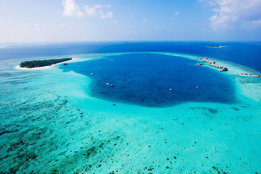 Angsana Velavaru dall'alto, Maldive