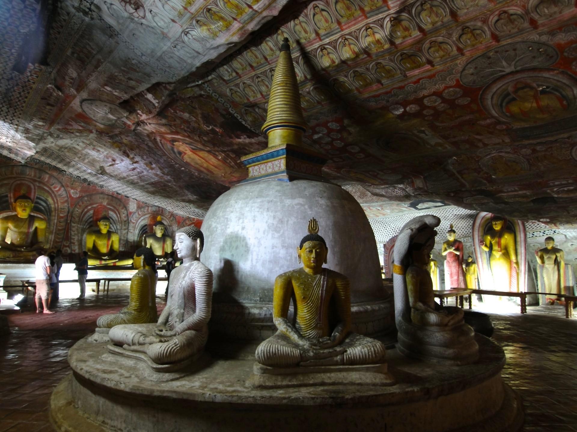 Golden temple a Dambulla, Sri Lanka