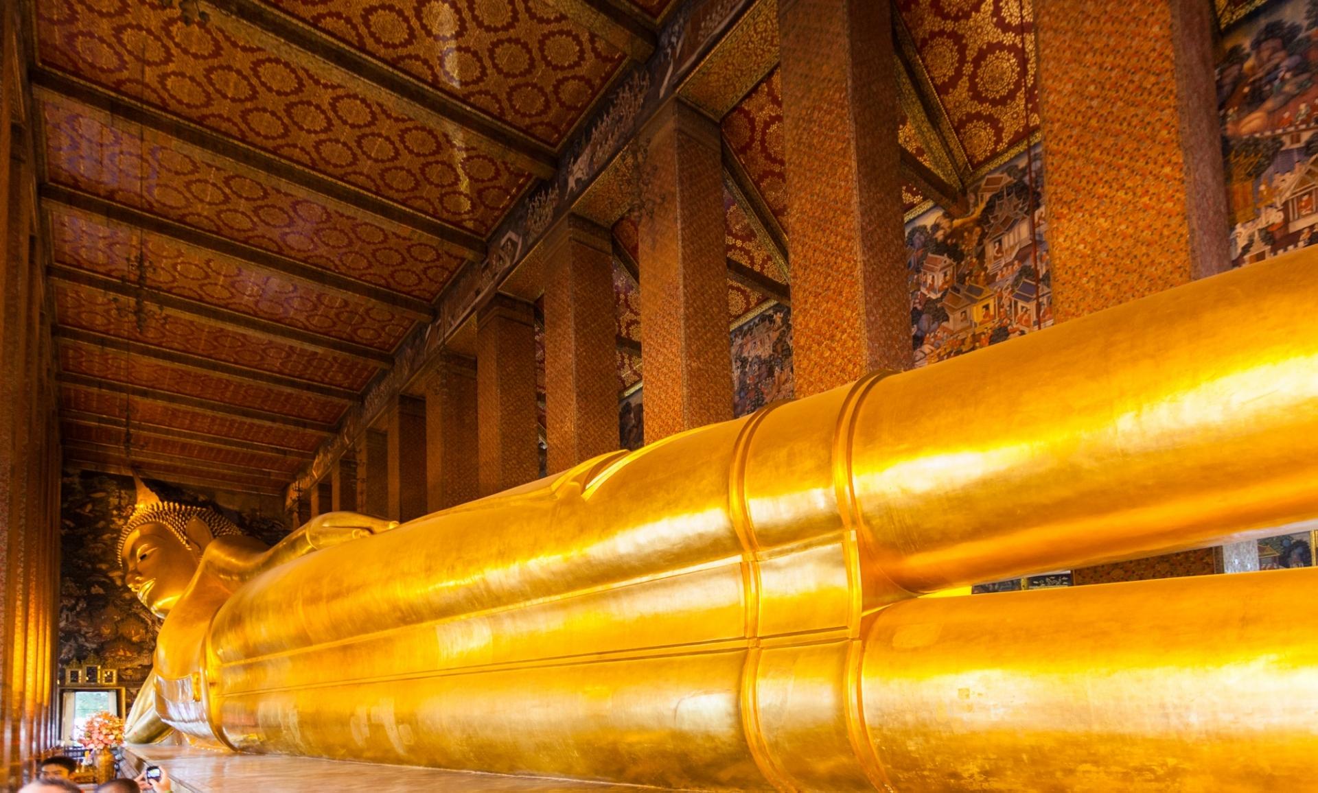 Buddha disteso al Wat Pho, Bangkok