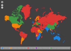 Mappa interattiva paesi con guida a sinistra e/o destra!