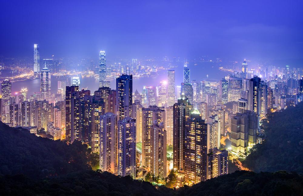 La vista sui grattacieli di Hong Kong dal Victoria Peak è mozzafiato