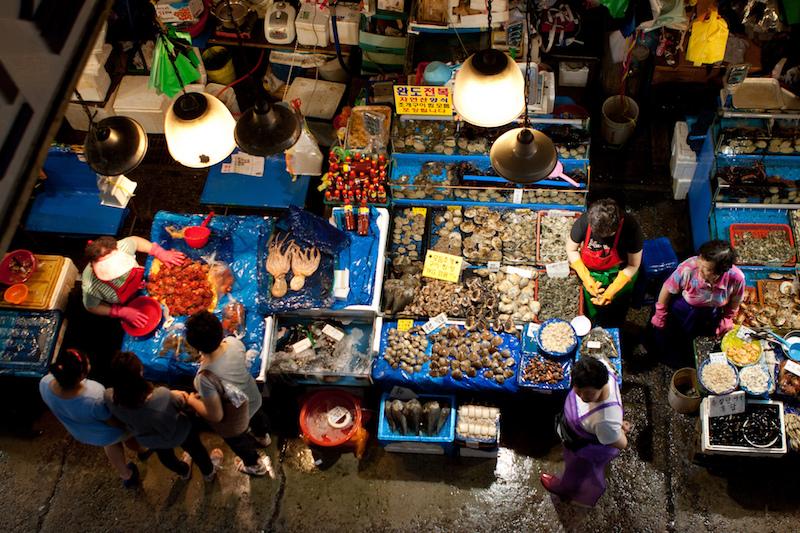 Il mercato del pesce di Seoul è senza dubbio una cosa da fare durante il vostro soggiorno