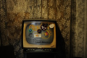 Televisore nei pub in rovina di Budapest