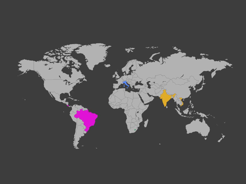 Vacanze a febbraio - mappa