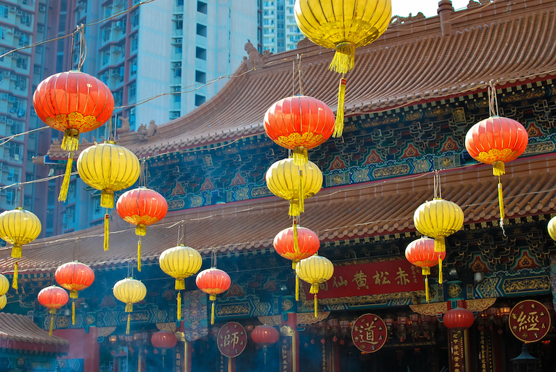Lanterne al tempio di Wong Tai Sin