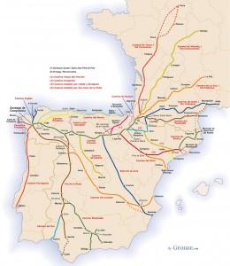 Le tappe sui Cammini di Santiago
