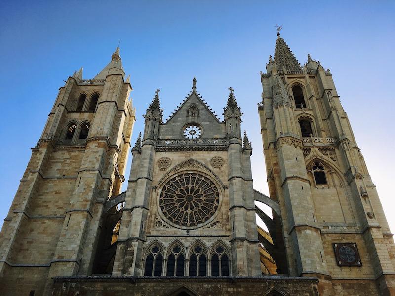 La Cattedrale di Leon, Tappa sul Cammino di Santiago