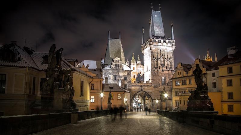 Le torri del Ponte Carlo di Praga