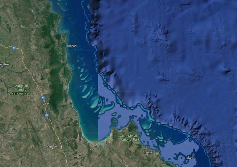 Gmaps - Grande Barriera Corallina