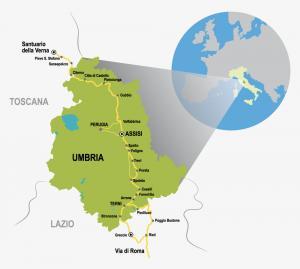 La mappa della Via di Francesco