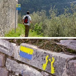 La segnaletica sulla Cammino di San Francesco