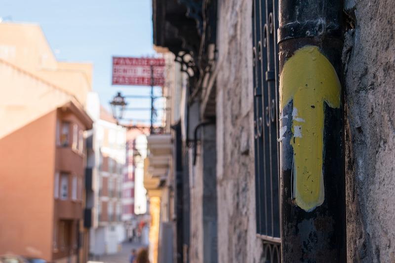 Il Cammino di Santiago Portoghese, segnaletica