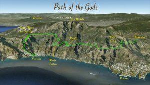 Mappa del Sentiero degli Dei