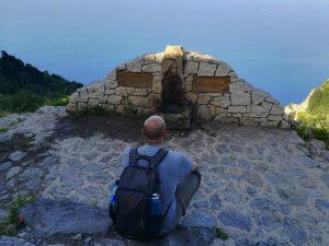 la fontana di Praiano sul Sentiero degli Dei