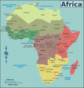 mappa stati africani