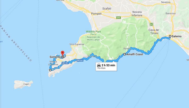 Roadtrip Europa Costiera Amalfitana Italia