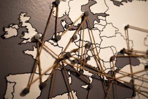 Mappa dei paesi della comunità europea
