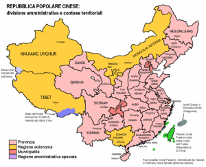 Mappa della Cina