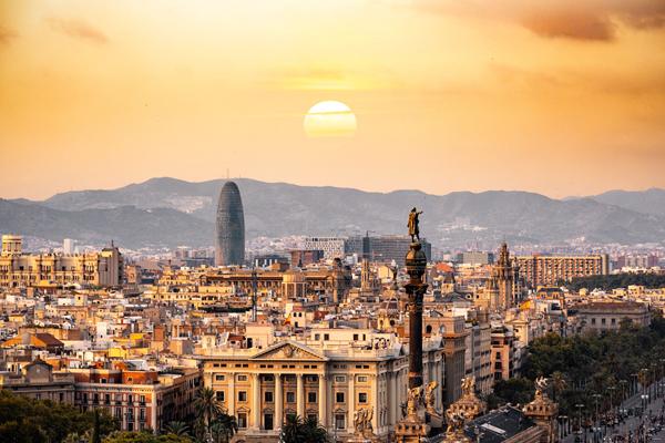 Barcellona Mappa Spagna