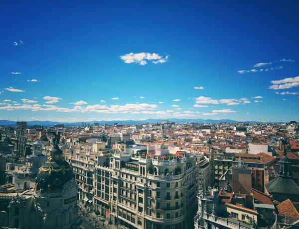 Madrid Mappa Spagna
