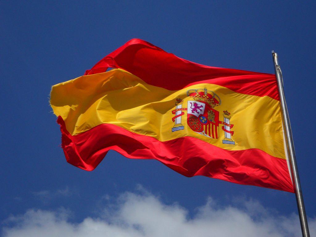 Mappa Spagna Bandiera