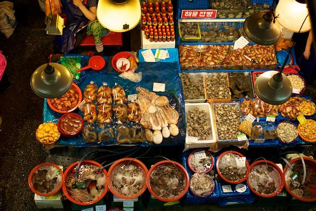 Il mercato del pesce di Seoul