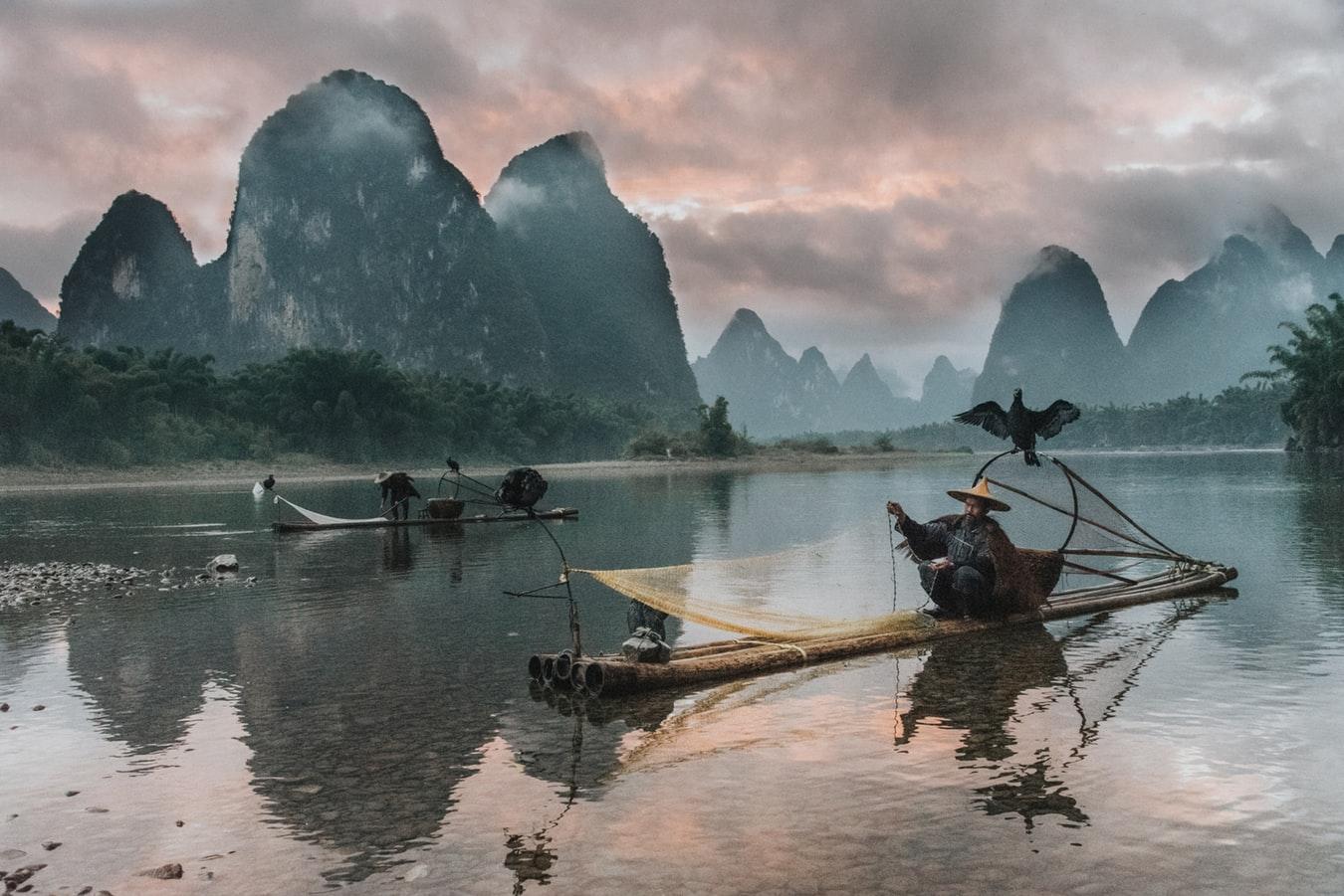 Pescatori sul Fiume Li, da visitare in un viaggio in Cina