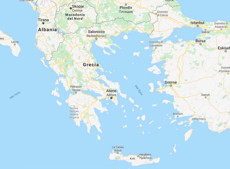 Mappa Della Grecia Maps