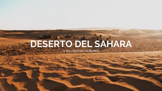 esperienza nel deserto del Sahara di Zagora
