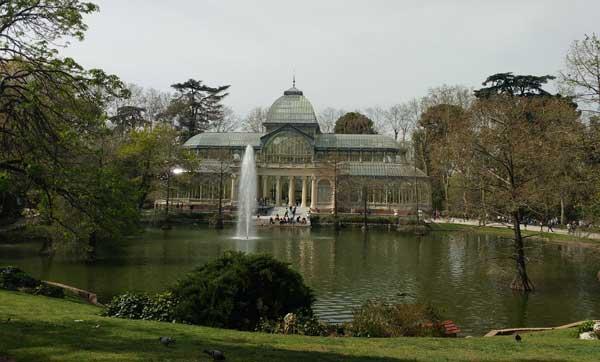 Viaggiare A Madrid Palazzo Di Cristallo, Parco Del Retiro